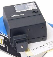SUNPAK Auto 112 flash universale per macchine fotografiche con rullino + istruzioni-Boxed -