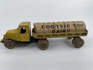 Tootsietoy Dairy Mack Truck Yellow