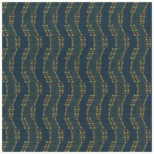 Wavy Stripe Blue Orange Yellow Crypton Upholstery Fabric 0721370 Finch Royal