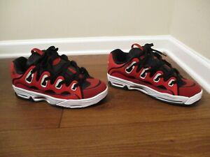 BNIB Size 12 Osiris D3 2001 Shoes Red, White, Black