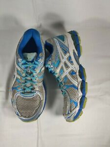 Asics Gel Nimbus 16 T485N Women's Athletic Running Shoes Gray Blue Silver Size 9