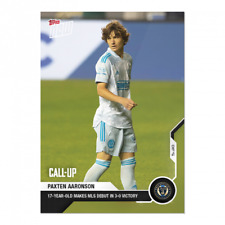 2021 Topps Now MLS PAXTEN AARONSON #45 RC Call up