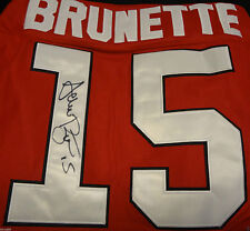 Andrew Brunette Signed Chicago Blackhawks Jersey Autograph Hawks Coa K1