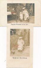 Nr.19425 2 x Privat Foto PK Kind Frau  Mann   um 1914