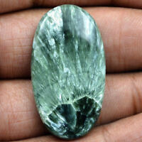 Cts. 36.70 Natural Attractive Seraphinite Cabochon Oval Cab Loose Gemstone