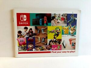 Nintendo Switch Canada Give Away Advert Booklet MANUAL ONLY Authentic