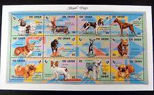 GAMBIA 93' MNH ROYAL DOGS STAMP SHEET PEKINESE CORGI PUG BOXER SHIH TZU PAPILLON