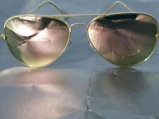 Ray Ban RB3026 62MM Aviator Unisex Sunglasses Gold Frame/Pink Mirror Lens