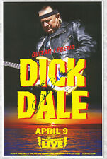 Dick Dale autographed concert poster