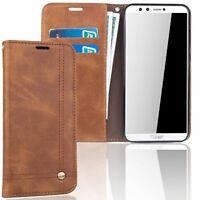 Huawei Honneur 9 Lite Etui pour Téléphone Mobile Schutz-Tasche Étui Étuis Braun