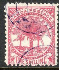 Samoa 1886 rose-carmine 1/- perf 12.5 used SG25