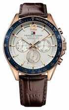 Relojes de pulsera fecha Blue de cuero