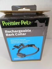 NEW Premier Pet Rechargeable Bark Collar with 15 Levels of Static Correction