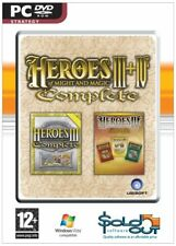 Heroes of Might and Magic III + IV PC NEW Sealed Includes ALL Expansions  3 4