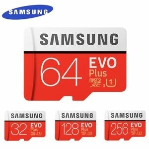 SAMSUNG EVO+ Micro SD 32G/64G/128G/256G Card C10 UHS-I TF/SD Cards FREE SHIPPING