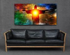 Jesus Christ Our Lord Worship Rainbow Sun Christian Faith Canvas Print Wall Art