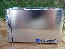 Sony Cyber-shot DSC-T5 5.1MP Digital Camera -Silver w/2Batteries 4G Pro Duo Card