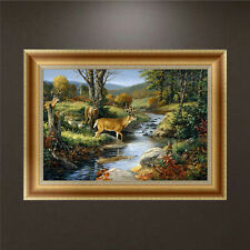 DIY 5D Diamond Embroidery Painting Forest Deer Cross Stitch Craft Home Decor