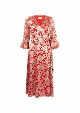 Hobbs Floral Justina Dress Midi Fit & Flare 3/4 Sleeve