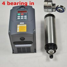 4 BEARING 4KW WATER COOLED SPINDLE MOTOR ER20& INVERTER VFD FREQUENCY DRIVE