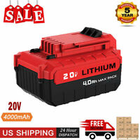 For PORTER CABLE PCC685L 20V 4.0Ah MAX Lithium Ion 20 Volt PCC680L Drill Battery