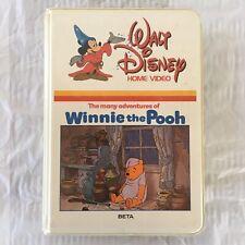 "BETA ""Many Adventures of Winnie the Pooh"" RARE Walt Disney Betamax Tape"