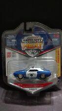 Jada Badge City Heat 70 1970 Dodge Challenger Highway Patrol Cop Car 1/64 Scale