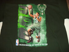 9a5600457e9 New Mens NBA Milwaukee Bucks Basketball Malcolm Brogdon Rookie Shirt size M