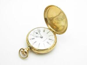 14k Yellow Gold Antique Vintage Estate HIGHMERE Pocket Watch Serial # 538434