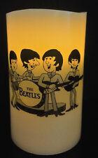 THE BEATLES cartoon FLAMELESS WAX FLICKERING CANDLE