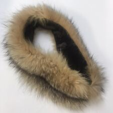 Collar Hood Replacement Faux Fur Coat Jacket  Brown Scarf