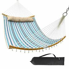 Ohuhu Double Hammock with Detachable Pillow 2019 All New Curved-Bar Design St...