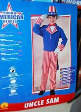 American Hero Uncle Sam Halloween Costume Party Child Mip 3-4 School Play Parade