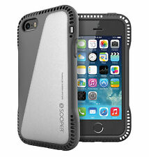 Hybrid 360° New Shockproof Case and 2x Front Screen Protector for iPhone 5s 5 SE