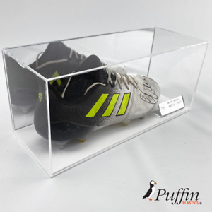 Football Boot Display Case Single - With White Base And Mirror Back