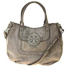 Auth Tory Burch 2Way Suede Handbag Gray 08PA079