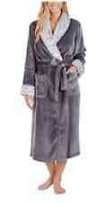 NEW Carole Hochman Ladies' Plush Wrap Robe, Grey, Size Medium