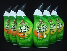 6 Lime-A-Way Lime Away Thick Gel Formula Toilet Bowl Cleaner Each 16 fl oz