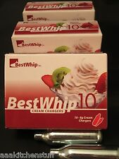 20 BEST Whip Cream Charger whipped 8 gram N2O Whip-it N20 Nitrous Oxide 2 x BW10