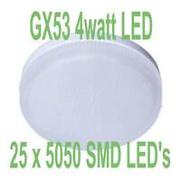 GX53 LED Light Bulb GX53 LEDS Under Unit LED Lamps TWIN PACK (WARM WHITE)