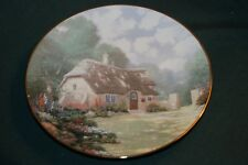 KNOWLES/Thomas Kinkade LtEd Plate: STONEGATE COTTAGE: Garden Cottages of England