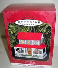 #4134 NRFB Hallmark 1999 Town and Country Series - Farm House Ornament #1