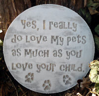plastic pet plaque mold garden ornament stepping stone