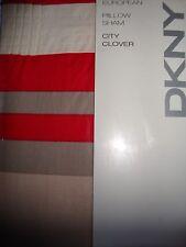 NEW DKNY CITY CLOVER CRIMSON EURO PILLOW SHAM