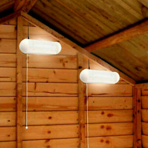 Solar Powered Panel with 2x LED Shed Wall Light Indoor/Outdoor Garage Patio Lamp
