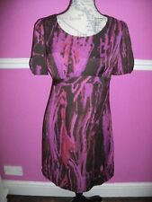 M & S PER UNA SILKY TUNIC SHORT party dress LONG TOP 10  BLACK PINK PURPLE RED