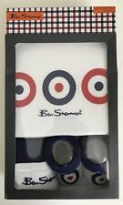 Official Ben Sherman 3 Piece Infant Baby Grow Set 0-6 Months