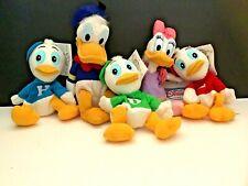 Disney Donald, Daisey, Huey, Dewey, Louie , Plush Beanie Babies