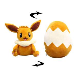 Evoli Peluche Réversible Oeuf Oreiller Pokémon - 30cm
