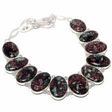 "Eudialyte Gemstone Handmade 925 Sterling Silver Necklace 18"""